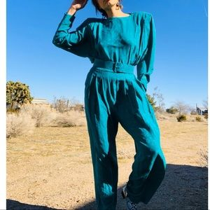 Liz Clairbone Vintage Women's Silk Jumpsuit Sz8